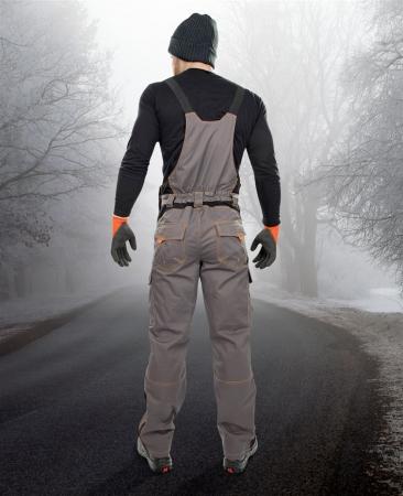 Pantaloni cu pieptar vatuiti de iarna Ardon VISION, tercot 60/40, 260 gr/mp2