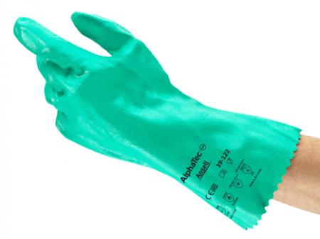 Manusi de protectie chimica Ansell ALPHATEC 39-122, impregnate in nitril [1]