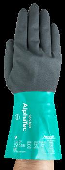 Manusi de protectie chimica  Ansell  ALPHATEC 58-530B, nitril [3]