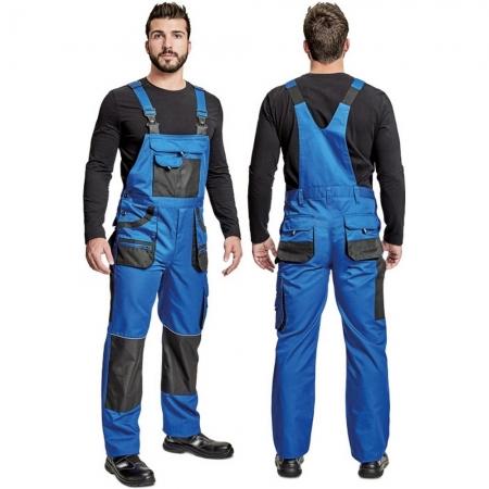 Pantaloni salopeta cu pieptar Fridrich BE-01-004 CARL, tercot 80/20, 235gr/mp1