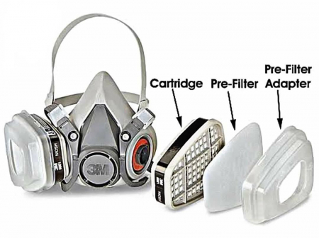 Capac 3M 501 pentru fixarea prefiltrelor de praf pe filtrele de gaze si vapori [1]