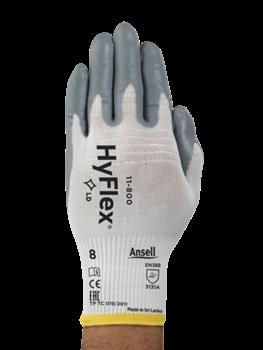 Manusi de protectie Ansell HYFLEX 11-800, impregnate in spuma de nitril0