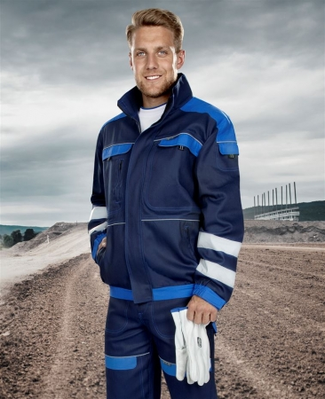 Jacheta de lucru cu benzi reflectorizante Ardon COOL TREND, 100% bumbac, 260 gr/mp1