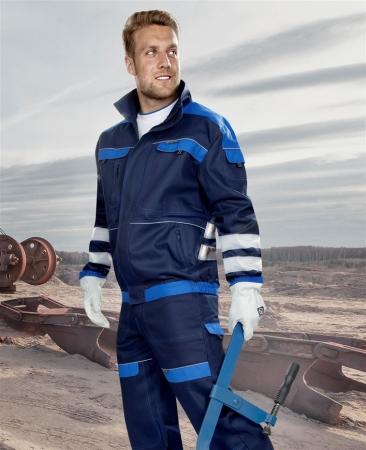 Jacheta de lucru cu benzi reflectorizante Ardon COOL TREND, 100% bumbac, 260 gr/mp2