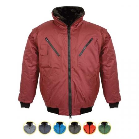 Jacheta de iarna cu maneci detasabile Renania EXFORD 2IN1, 100% poliester [1]