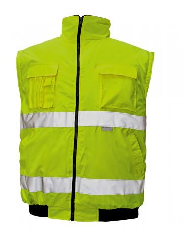 Jacheta reflectorizanta vatuita de iarna Cerva CLOVELLY PILOT 2IN1, 100% poliester, cu maneci detasabile [1]