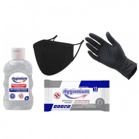 Kit protectiv HYGIENIUM, include manusi nitril0