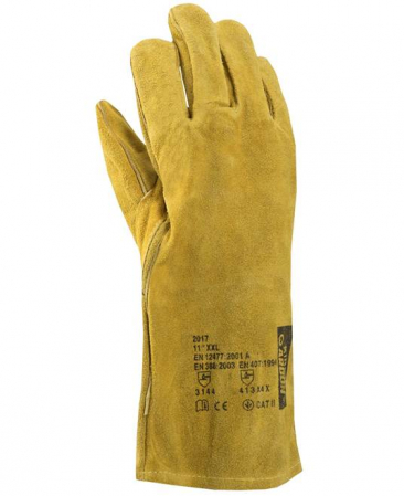 Manusi de protectie sudura Ardon KIRK, piele spalt bovina, ata kevlar, 35cm [0]
