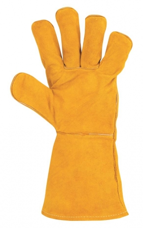 Manusi de protectie sudura Ardon KIRK, piele spalt bovina, ata kevlar, 35cm0