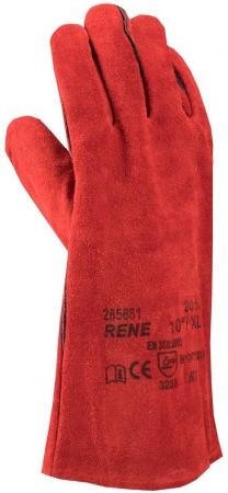 Manusi de protectie sudura Ardon RENE, piele spalt bovina, 35 cm0