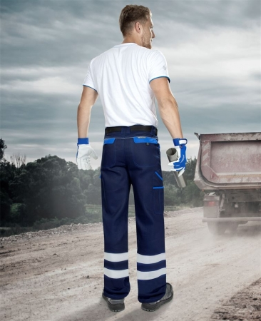 Pantaloni de lucru cu benzi reflectorizante Ardon COOL TREND REFLEX, 100% bumbac, 260gr/mp2