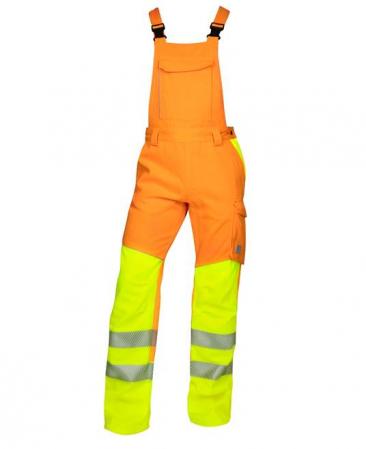 Pantaloni cu pieptar reflectorizanti Ardon SIGNAL, 65% poliester - 35% bumbac, 290gr/mp0