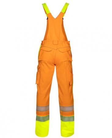 Pantaloni cu pieptar reflectorizanti Ardon SIGNAL, 65% poliester - 35% bumbac, 290gr/mp2