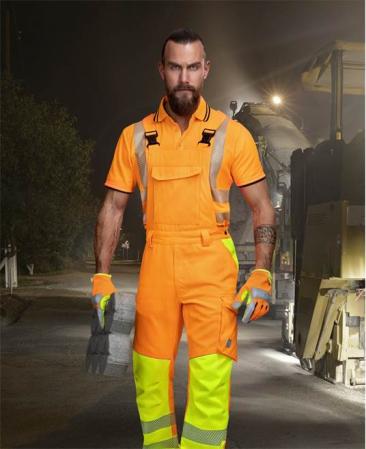 Pantaloni cu pieptar reflectorizanti Ardon SIGNAL, 65% poliester - 35% bumbac, 290gr/mp1