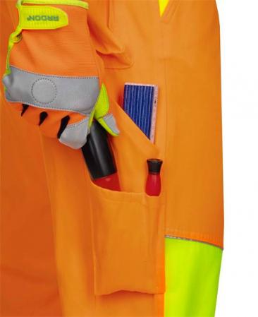 Pantaloni cu pieptar reflectorizanti Ardon SIGNAL, 65% poliester - 35% bumbac, 290gr/mp5