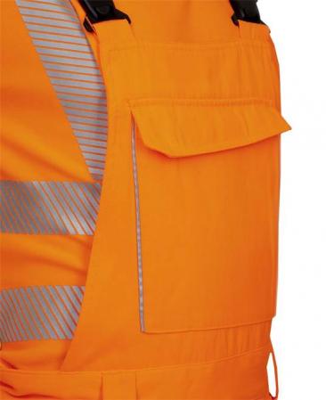 Pantaloni cu pieptar reflectorizanti Ardon SIGNAL, 65% poliester - 35% bumbac, 290gr/mp6
