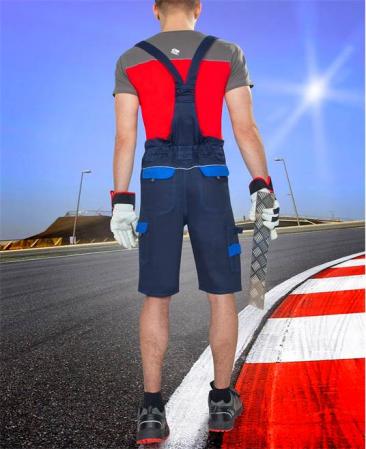 Pantaloni cu pieptar scurti de lucru Ardon COOL TREND, 100% bumbac, 260gr/mp2