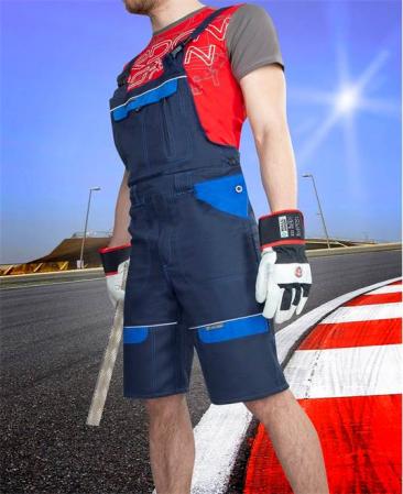 Pantaloni cu pieptar scurti de lucru Ardon COOL TREND, 100% bumbac, 260gr/mp1