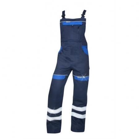 Pantaloni salopeta cu pieptar cu benzi reflectorizante Ardon COOL TREND, 100% bumbac, 260 gr/mp [0]