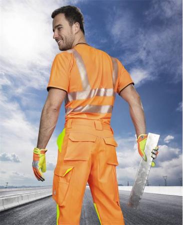 Pantaloni reflectorizanti Ardon SIGNAL, 65% poliester - 35% bumbac, 290gr/mp1