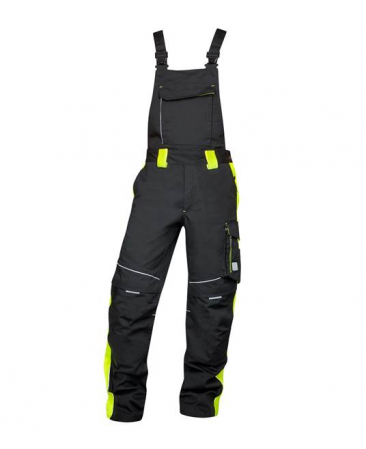 Pantaloni salopeta cu pieptar Ardon NEON, 65% poliester - 35% bumbac, 270 gr/mp0