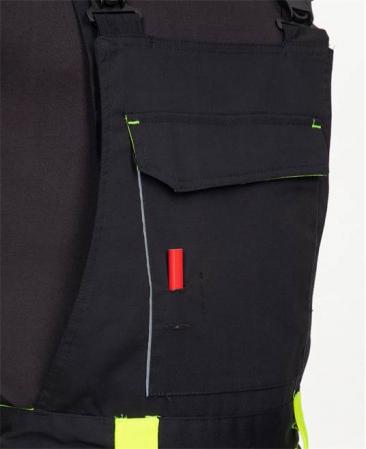 Pantaloni salopeta cu pieptar Ardon NEON, 65% poliester - 35% bumbac, 270 gr/mp5