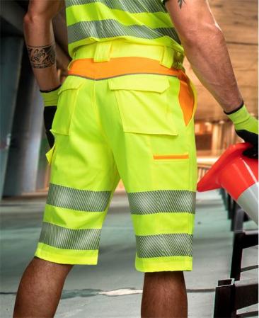 Pantaloni scurti reflectorizanti Ardon SIGNAL, 65% poliester - 35% bumbac, 290gr/mp1