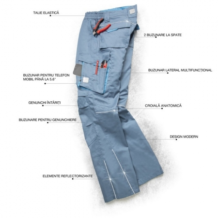 Pantaloni de lucru Ardon SUMMER, tercot 65/35, 200gr/mp2