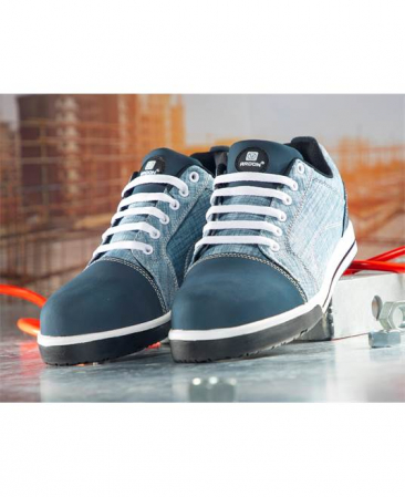 Pantofi de protectie metal free Ardon DERRIK DENIM S1P, cu bombeu compozit si lamela1