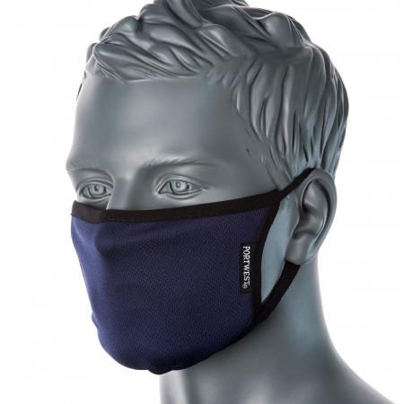 Semimasca faciala din tesatura anti-microbiana cu 3 straturi Portwest CV330