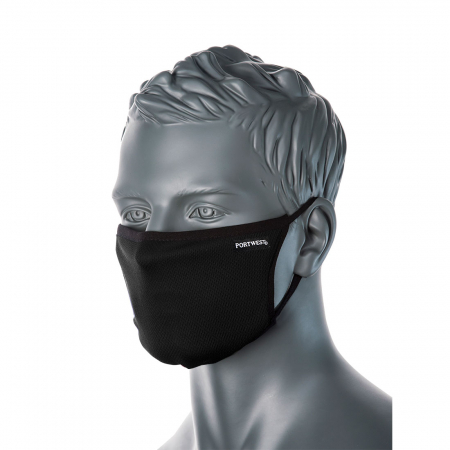 Semimasca faciala din tesatura anti-microbiana cu 3 straturi Portwest CV332