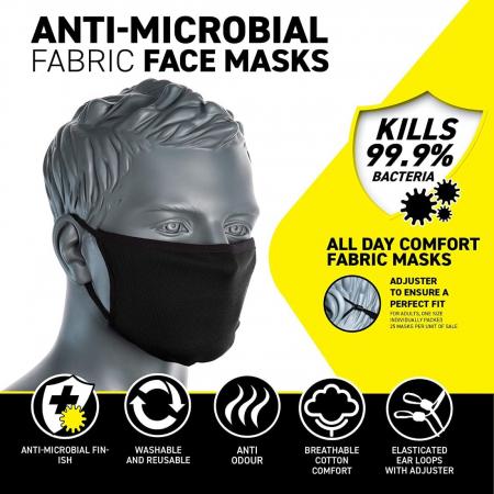 Semimasca faciala din tesatura anti-microbiana cu 3 straturi Portwest CV331