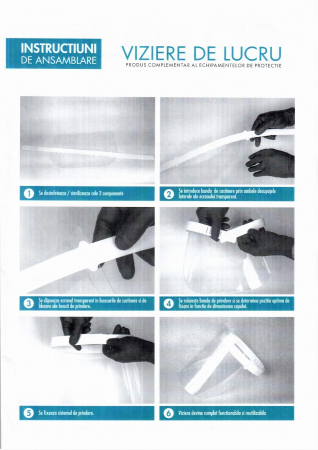 Viziera de protectie VIZIO ergonomica, dezinfectabila2