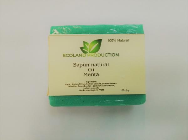 Sapun natural cu ulei esential de menta 100g Ecoland Production 0