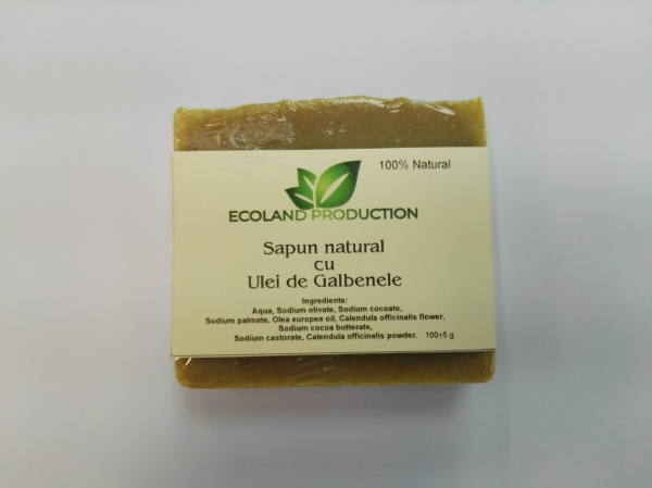 Sapun natural cu ulei de galbenele,Ecoland Production,100g 0