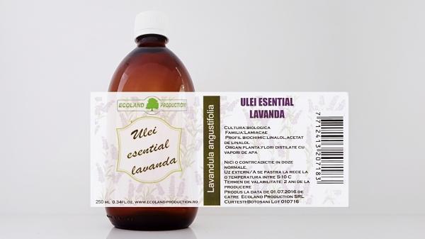 Ulei esential de lavanda 100% natural 250ml Ecoland Production 0