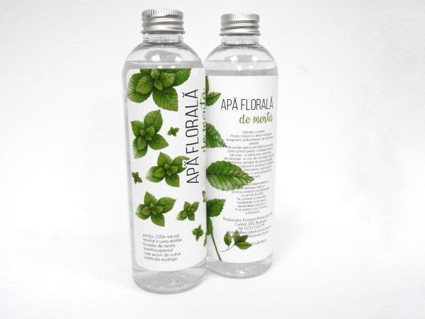 Apa florala de menta, 250 ml, 100% natural 0