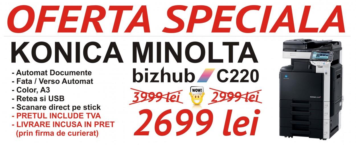 konica minolta bizhub c220