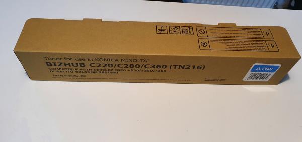 Toner Konica Minolta TN216C, TN319C, A11G150, A11G151, bizhub C220, bizhub C280, Cyan 0