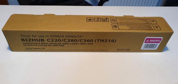 Toner Konica Minolta TN216M, TN319M, A11G150, A11G151, bizhub C220, bizhub C280, Magenta [0]