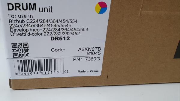 Drum unit DR 512 konica minolta bizhub c224/284/364/454 1