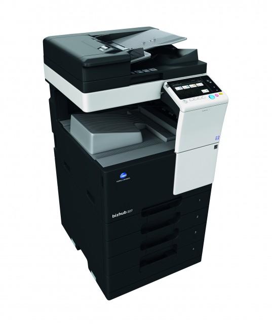 Multifunctional laser A3 alb-negru Konica Minolta Bizhub 227 + Alimentator Documente RADF + Stand Mobil + Toner 23.000 pag + Instalare Gratuita [2]