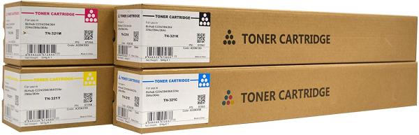 Toner Konica Minolta TN321C, A33K450, Cyan, compatibil 1