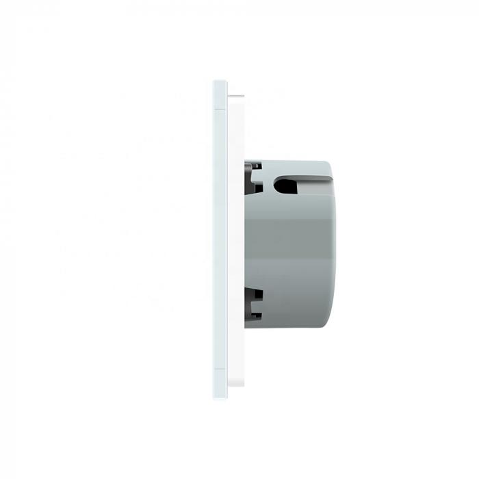 Întrerupător dublu Livolo, wireless, Alb Livolo VL-C702R-11 3