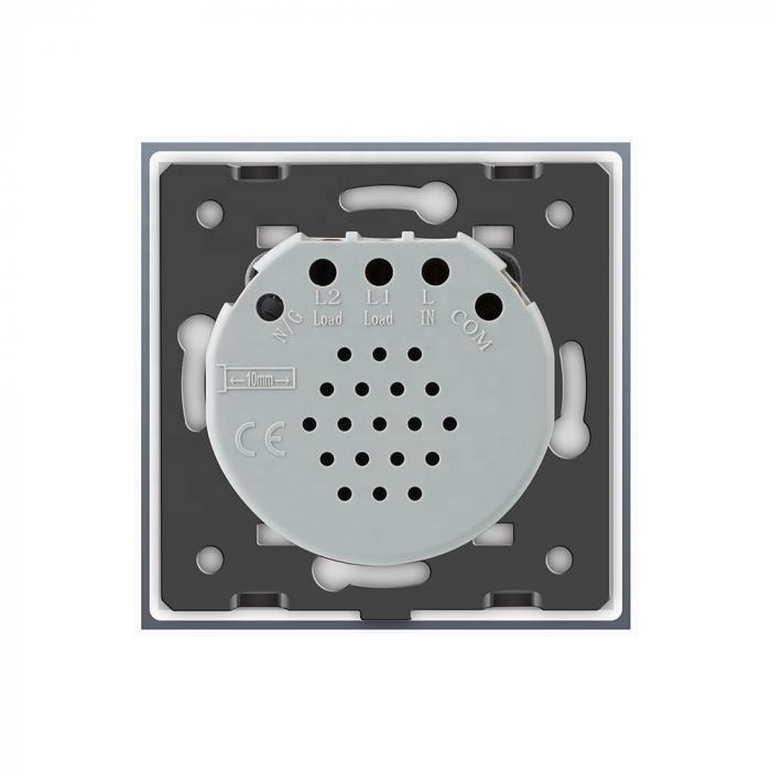 Întrerupător simplu Livolo, reset/buton revenire, Argintiu VL-C701H-15 1