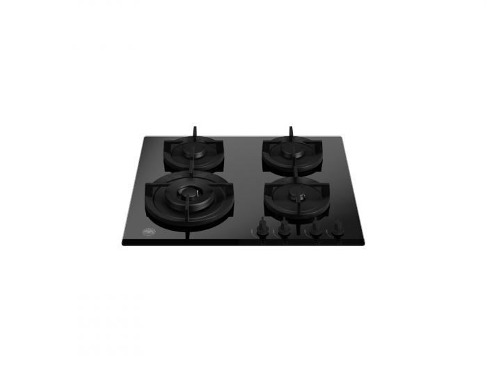 Plita incorporabila Bertazzoni cu 4 arzatoare cu gaz 60 cm - geam ceramic negru 0