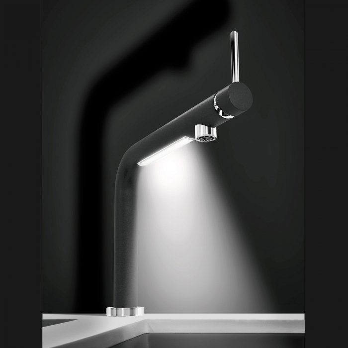 Baterie CookingAid LUMIX cu finisaj NEGRU mat antiamprenta si senzor atingere activare Lumina LED 1