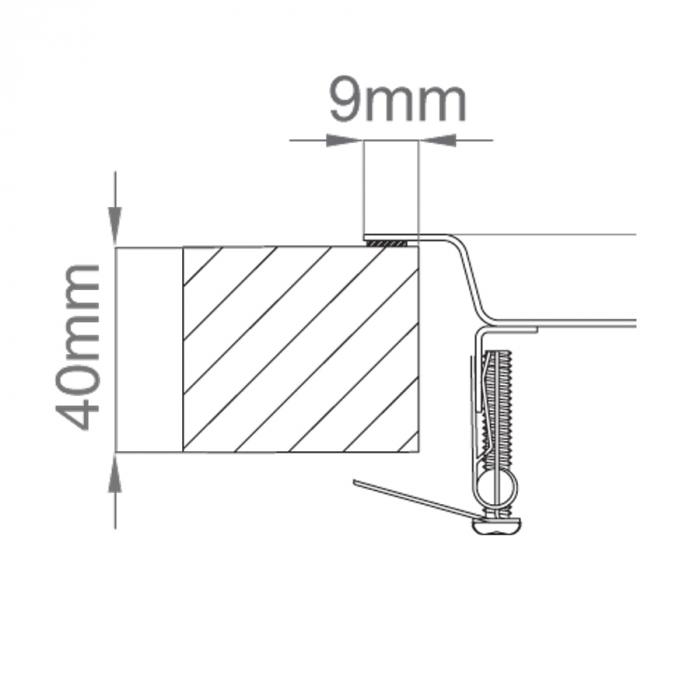 Chiuveta bucatarie inox CookingAid XERON B50 reversibila cu ventil scurgere dreptunghiular automat si accesorii montaj 7