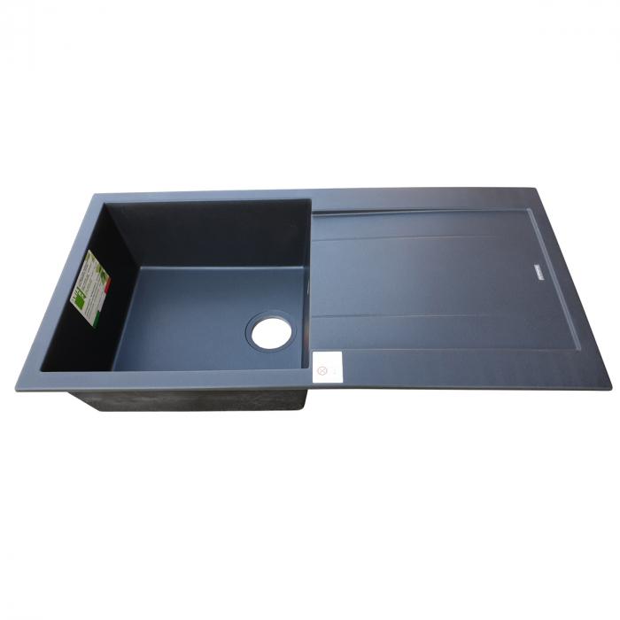 Chiuveta bucatarie granit CookingAid Amanda AM9910 Neagra Antracit reversibila [8]