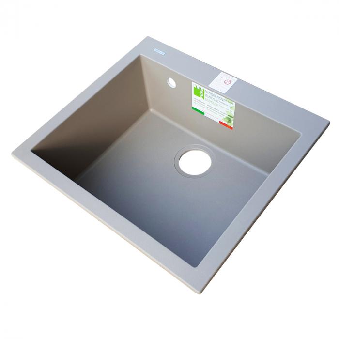 Chiuveta bucatarie granit CookingAid Cube ON5610 Trufa Maro / Truffle + accesorii montaj 3